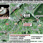 Tunnel hält Behörden auf Trab
