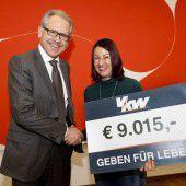 VKW-Kunden spenden für Leukämiehilfe