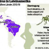 Zika-Virus: Fälle in der Schweiz und Dänemark