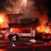 Tischlerei in Diepoldsauer Wohngebiet in Flammen