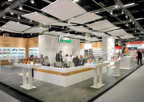 Gunz präsentiert sein Produktportfolio auf den großen Lebensmittelmessen (im Bild die ISM in Köln).