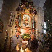 Bildsteiner Kirche als Reibebaum