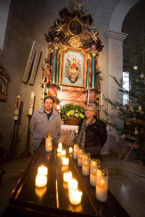 Hans Dür und Brigitte Ascherbauer wünschen sich wie viele andere, dass die Bildsteiner Kirche bleibt, wie sie ist.