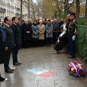 Frankreich gedenkt Charlie Hebdo-Opfer