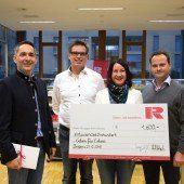 Rhomberg spendet an Geben für Leben