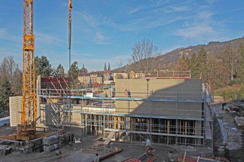 Im Neubau der HLW Marienberg werden Lehrerzimmer, Aula, ein naturwissenschaftlicher Raum und fünf Klassenzimmer Platz finden.