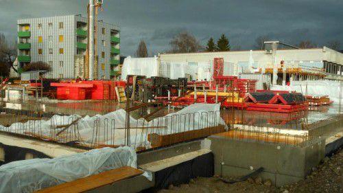 Im Schulcampus Schendlingen entsteht derzeit der Keller.