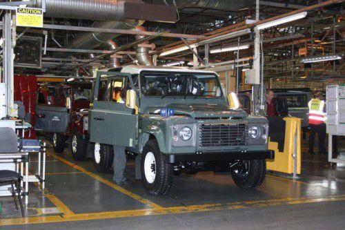 Im Stammwerk in Solihull werden die letzten Defender gefertigt. Ende Jänner wird die Produktion eingestellt.