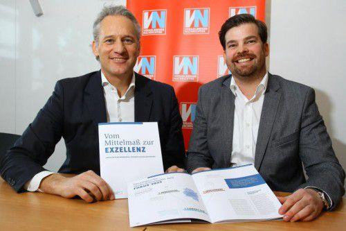 IV-Präsident Martin Ohneberg und IV-Geschäftsführer Mathias Burtscher freuen sich über das Feedback.