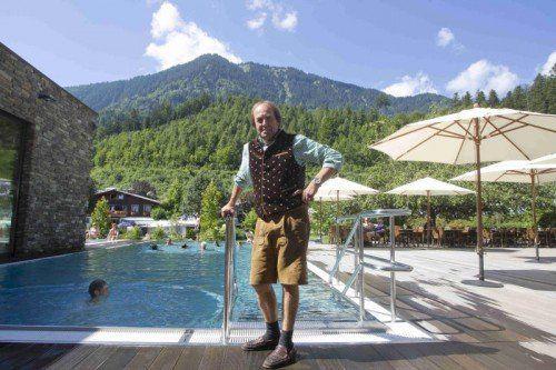 Josef Morik ist stolz auf seinen Campingplatz.