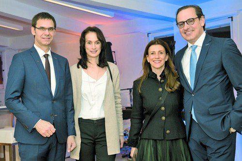 Landeshauptmann Markus Wallner mit Sonja sowie Patricia und Vorstandsvorsitzender Michael Grahammer.
