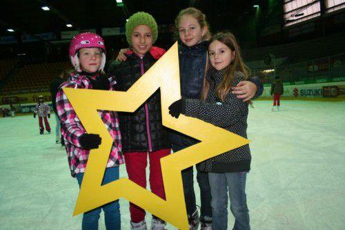 Laura, Annika, Lara und Anna (Frastanz) waren gerne dabei.