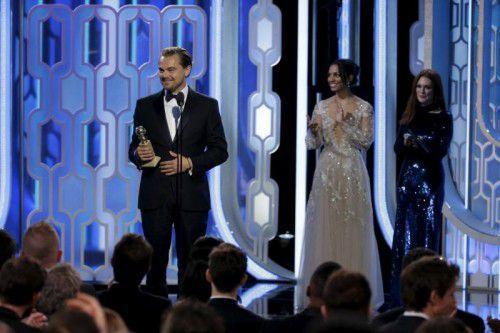 """Leonardo DiCaprio erhielt den Golden Globe für seine Rolle in """"The Revenant – Der Rückkehrer""""."""