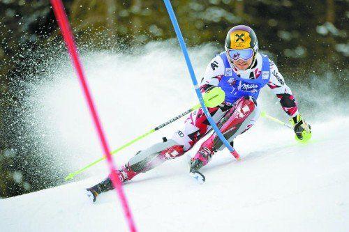 Marcel Hirscher war im Slalom erstmals schneller unterwegs als Henrik Kristoffersen.