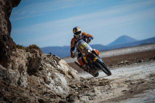 Matthias Walkner will sich dieses Jahr bei der Dakar in den Top Drei platzieren. foto: gepa