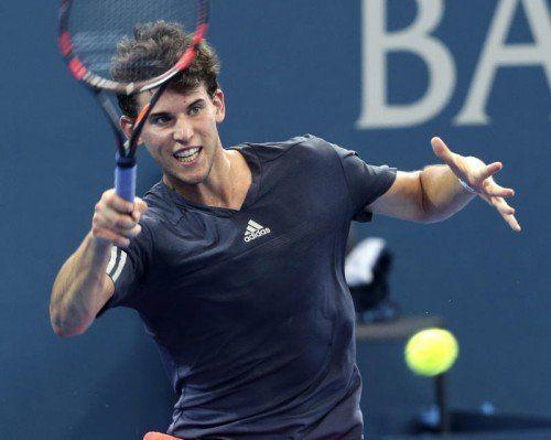 Österreichs Tennis-Aushängeschild Dominic Thiem war in seinem ersten Aufeinandertreffen mit Roger Federer in Brisbane chancenlos.