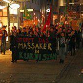 Fackelmarsch der Kurden in Bregenz