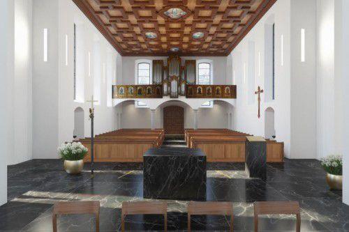So soll die Wallfahrtskirche künftig aussehen.