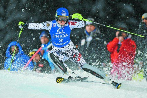 Souverän fuhr Veronika Velez Zuzulova beim Nacht-Slalom in Flachau den Sieg nach Hause – zum ersten Mal nach einer Halbzeitführung konnten die Slowakin gewinnen.