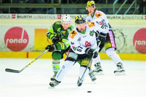 Thomas Auer steuerte beim 2:1-Erfolg des EHC Lustenau im Derby gegen den EHC Bregenzerwald ein Tor und einen Assist bei.