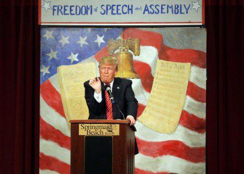 Trump provoziert mit seinen Äußerungen gegen Muslime.