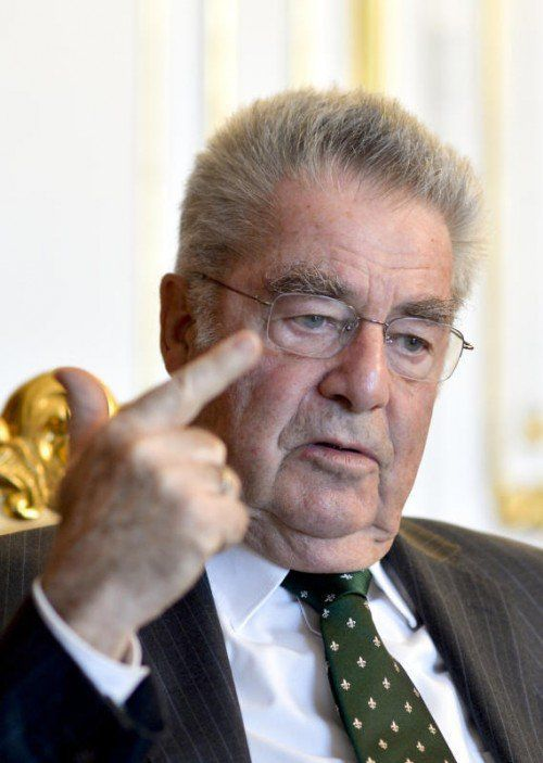Ungewöhnlich deutliche Mahnung von Heinz Fischer an Strache.