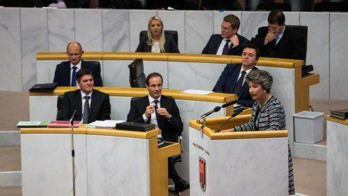 Werden die Plätze im Landtag tauschen: Dieter Egger rutscht nach links, Daniel Allgäuer nach rechts.