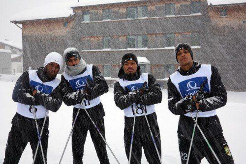 Winterfest zeigten sich Jailson, Seifedin Chabbi, Bruno Felipe Souza Da Silva und Neuzugang Felipe.