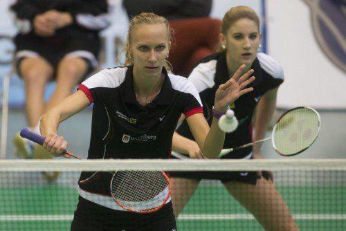 Wolfurt-Legionärin Tina Kodric (l.) punktete gegen Kärnten im Einzel und zusammen mit Janine Lais (r.) im Doppel.