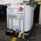 Container verliert bis zu 500 Liter Alkohol