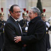 Raul Castro auf Staatsbesuch in Frankreich