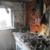 Brand zerstört Küche in Einfamilienhaus