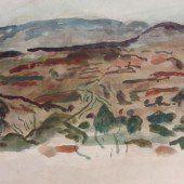 Farbige Erde und Malerei als Langzeitbelichtung