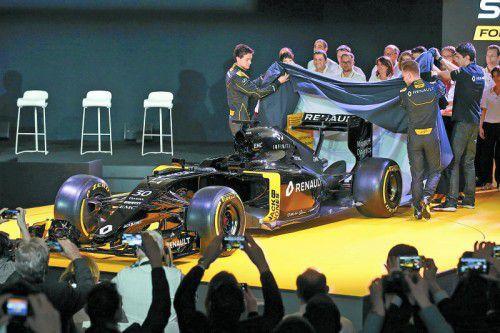 Der neue RS16 glänzte bei der Präsentation in schwarz.