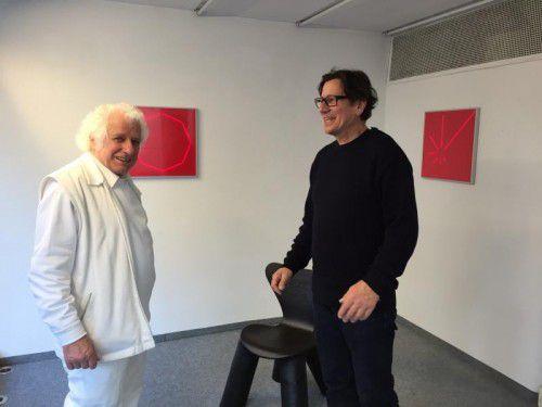 Die beiden Österreicher Hellmut Bruch und Bernhard Hausegger in der Dornbirner Galerie c.art.
