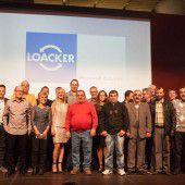 22 Loacker-Jubilare vor den Vorhang geholt
