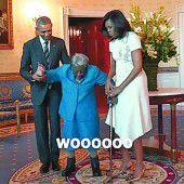 Freudentanz mit den Obamas