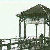 Vorarlberg Einst und jetzt. Der Fischersteg in Bregenz