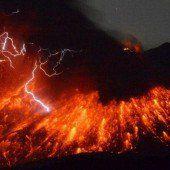 Vulkan Sakurajima ausgebrochen