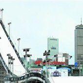 Überragende Sprünge auf der Riesenrampe im Baseball-Stadion von Boston