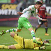 Wolfsburg siegte gegen schwache Ingolstädter mit 2:0