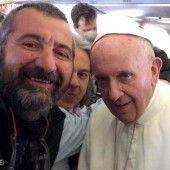Ein Selfie mit Papst Franziskus