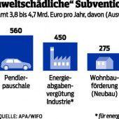 Umweltschädliche Subventionen