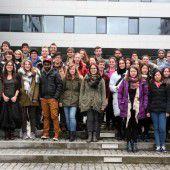 16 Nationen bei der Fachhochschule in Dornbirn zu Gast