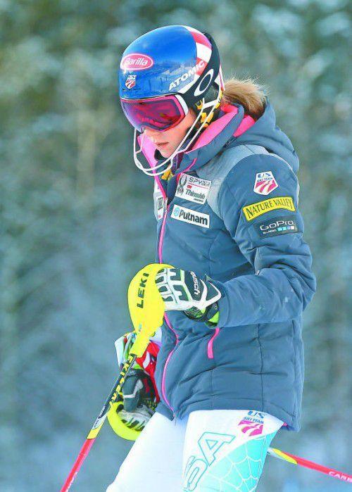 Nach acht Wochen Pause im Weltcup zurück: Mikaela Shiffrin.