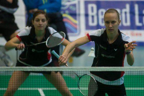Alexandra Mathis und Tina Kodric (r.) haben im Doppel weiter eine makellose Saisonbilanz. Foto: steurer