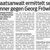 Ermittlungsverfahren gegen Fröwis vom Tisch