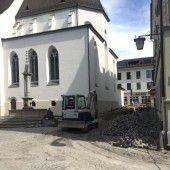 Komplettsperre des Domplatzes in Feldkirch