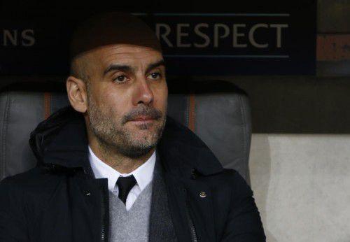 Coach Pep Guardiola.