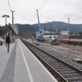 Am Rankweiler  Bahnhof wird tüchtig gebaut